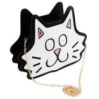Black & White Cartoon Character Sling Bag