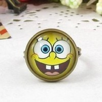 Classic Color Ring Strongly Individualizes Spongebob Squarepants Finger Adjustable Ring