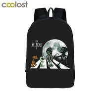 Cool Backpack school Cool Alien Predator Backpack Horrible Face Hug Children School Bags For Teenage Kids School Backpack Bag Men Travel Bags AT_52_3