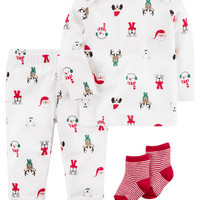 3-Piece Christmas PJ Set