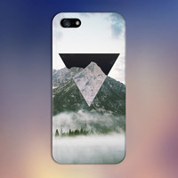 Geometric Negative x Mountain Fog Phone Case for iPhone 6 6 Plus iPhone 5 5s 5c iPhone 4 4s Samsung Galaxy s6 s5 s4 & s3 and Note 4 3 2