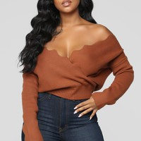 Finding Love Sweater - Cognac