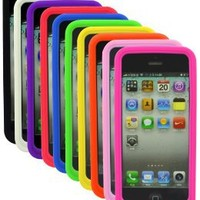 The Friendly Swede 10 Pack Soft Silicone Rubber Skins Covers Cases for Apple iPhone 5 5S + 2 Screen Protectors + 1 Microfiber Cloth