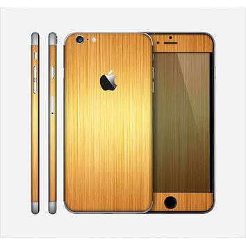 The Bright Brushed Gold Surface Skin for the Apple iPhone 6 Plus