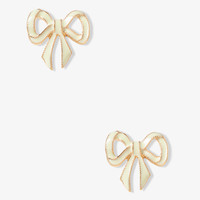 Lacquered Tied Bow Studs