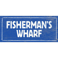 Personalized Fisherman's Wharf Wood Sign