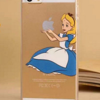 Disney's Alice in Wonderland Holding Logo Clear Case For Iphone
