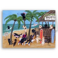 Island Summer Vacation Labradors Cards from Zazzle.com
