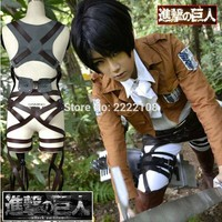 Cool Attack on Titan Halloween Party Adjustable Belts Anime Cos Cosplay  no  Recon Corps Harness belt hookshot Costume AT_90_11