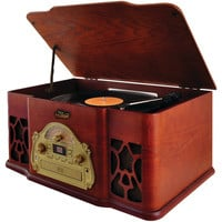 Pyle Home Vintage-style Bluetooth Turntable Speaker System With Cd Player & Vinyl-to-mp3 Recording