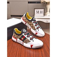 Gucci Men Fashion Boots fashionable Casual leather Breathable Sneakers Running Shoes-879