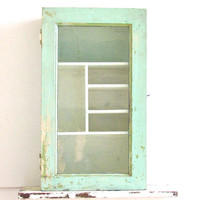 Rustic Wall Cupboard with Glass Door by marybethhale on Etsy
