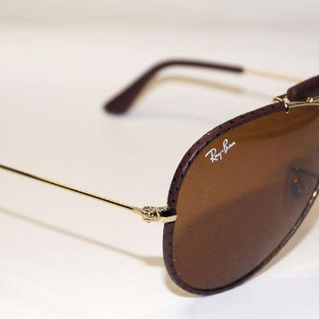 Ray Ban Gafas de Sol Sunglasses RB 3422Q 9041 Gr.58 - Leather Collection