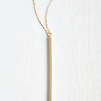 Minimal Key to Simplicity Necklace in Gold by ModCloth