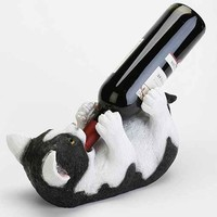 Drinking Cat Bottle Holder- White One
