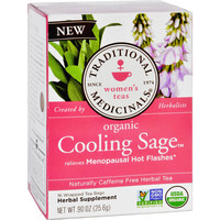 Traditional Medicinals Tea - Organic - Herbal - Cool Sage - 16 ct - 1 Case