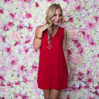 In Your Dreams Shift Dress In Red