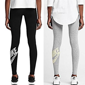 """NIKE"" Women Fashion Stretch Leggings Sweatpants Exercise Fitness Sport Pants Trousers"