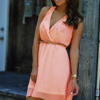 Dixie Girl High-Low Dress: Neon Peach | Hope's