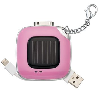 MixBin Solar iPhone Charger with Keychain - Retail Packaging - Lavender