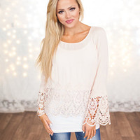 Laced to Perfection Top Ivory
