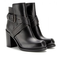 NAZRUL LEATHER ANKLE BOOTS