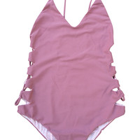 ACACIA Swimwear 2016 Florence One Piece in Orchid- Large