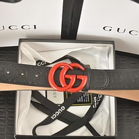 GG men's and women's double G smooth buckle belt