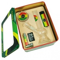 Smoking Giftset Rasta Flag - Eco Bongs - 39.99 US and Canada