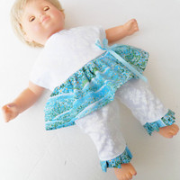 Doll Clothes, HANDMADE to fit 15 inch bitty baby girl, summer dress pants set