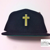 Gold Cross Snapback ASAP Rocky Trill