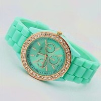 Mint Color Silicone Watch MNV002 from topsales