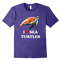 I Love Sea Turtles- Marine Ocean Life Support T-Shirt