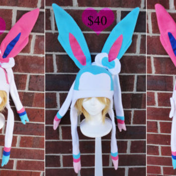 Sylveon and Shiny Sylveon Pokemon Hat - A winter, nerdy, geekery gift!