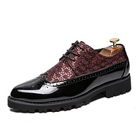 Men's Bullock Shoes PU Spring & Summer / Fall & Winter Business / Casual Oxfords Breathable Black / Red