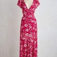 Short Sleeves Maxi Call to Passion Dress
