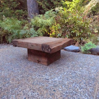 """Old Growth Coffee Table - 4 inch thick top 30"""" x 30"""""""