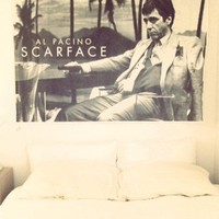 Scarface - Sling - Landscape b/w - Huge Film PAPER POSTER measures aproximately 100 x 70cm Greatest Films Collection Directed by Brian De Palma. Starring Al Pacino, Steven Bauer, Michelle Pfeiffer.