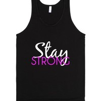 stay strong-Unisex Black Tank