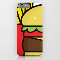 burger and fries iPhone & iPod Case by Molly Ennis