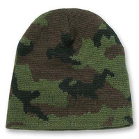 Woodland Camo Deluxe Skull Cap Beanie Hat-Camouflage Beanie Ca-Brand New!