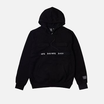 Strapped Up Fleece Hoodie Black