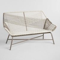 Gray All Weather Wicker Andalusia Outdoor Bench