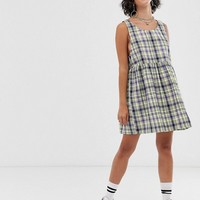 COLLUSION check drop armhole smock mini dress | ASOS