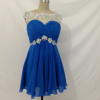Cap Sleeves Beaded A Line Ruched Short Homecoming Party Cocktail Dress
