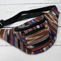 Striped Fanny Pack--Earthy Colors