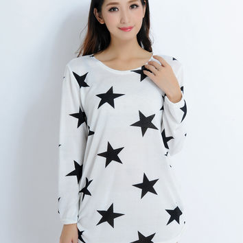 [DEAL OF THE DAY] Dear Deer Trendy Cotton Blend Women's Graphic Crewneck Sweater Top