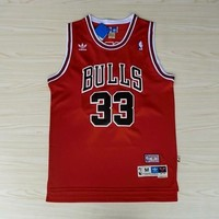 "NBA Chicago Bulls #33 Scottie Pippen ""Bulls"" Swingman Jersey"