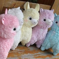 5color Arpakasso Alpacasso Alpaca Big Plush toy doll gift Fresh Soda Ramune 48cm