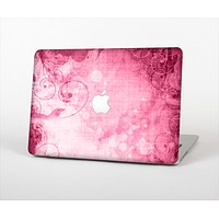 """The Grungy Pink Painted Swirl Pattern Skin Set for the Apple MacBook Pro 15"""" with Retina Display"""